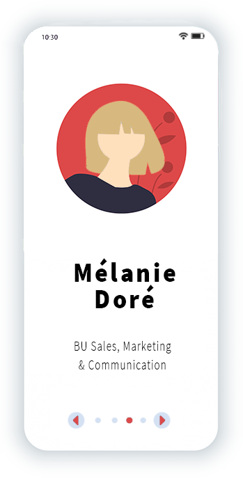 Mélanie Doré BU Sales, Marketing et communication